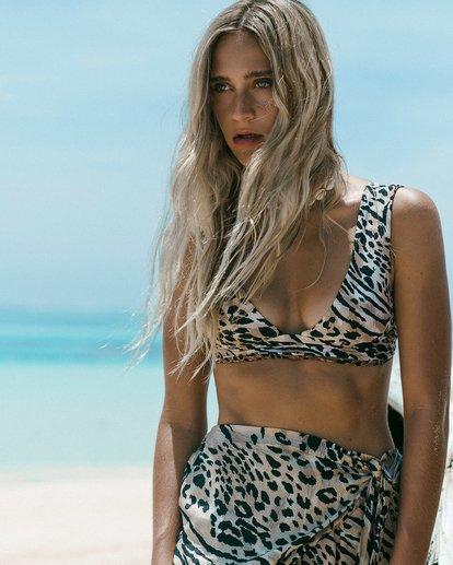 0 Wild Waves Plunge Reversible Bikini Top Black XT08WBWI Billabong
