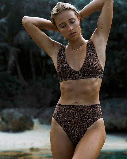 1 Wild Waves Plunge Reversible Bikini Top Black XT08WBWI Billabong