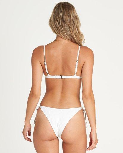 3 Sunny Rib Tri Bikini Top White XT10UBSU Billabong