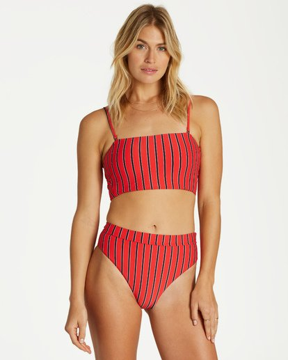 2 Hot For Now Tube Top Bikini Top Red XT12VBHO Billabong