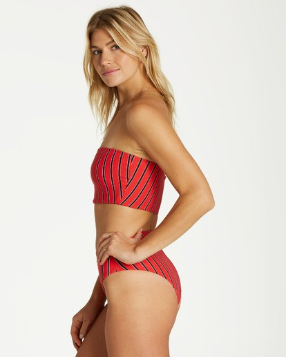 3 Hot For Now Tube Top Bikini Top Red XT12VBHO Billabong
