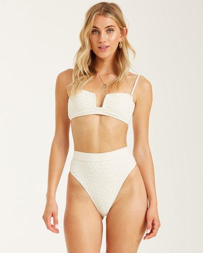 1 Peeky Days Square Wire Bikini Top White XT152BPE Billabong