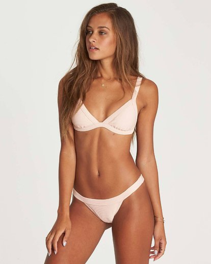 1 Tanlines Fixed Tri Bikini Top Pink XT20NBTA Billabong