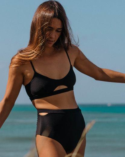 0 Tanlines Trilet Rib Knit Bikini Top Black XT21SBTA Billabong