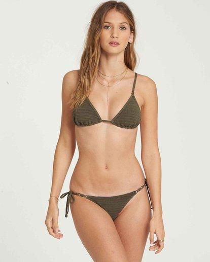 0 No Hurry Slide Tri Bikini Top Green XT22QBNO Billabong