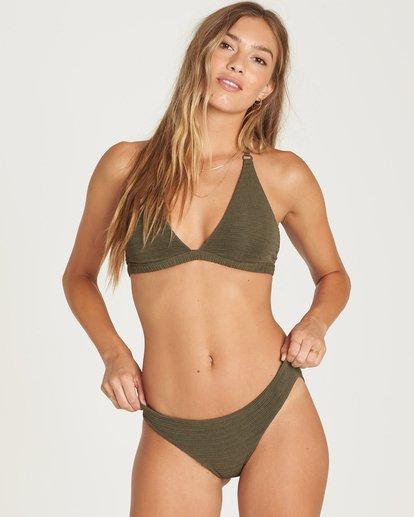 0 No Hurry Halter Bikini Top Green XT23QBNO Billabong