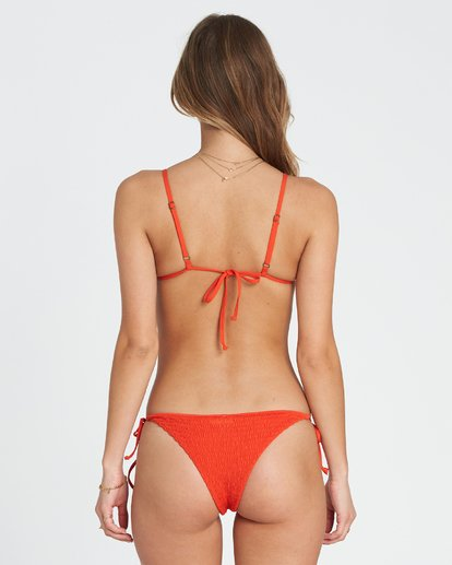 2 Fire Slide Tri Triangle Bikini Top Red XT24SBFI Billabong