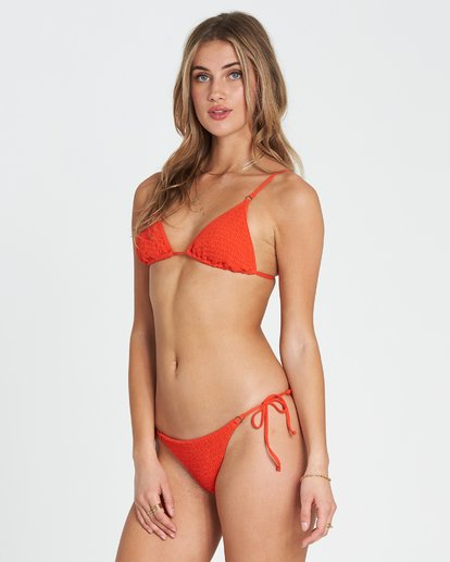 1 Fire Slide Tri Triangle Bikini Top Red XT24SBFI Billabong