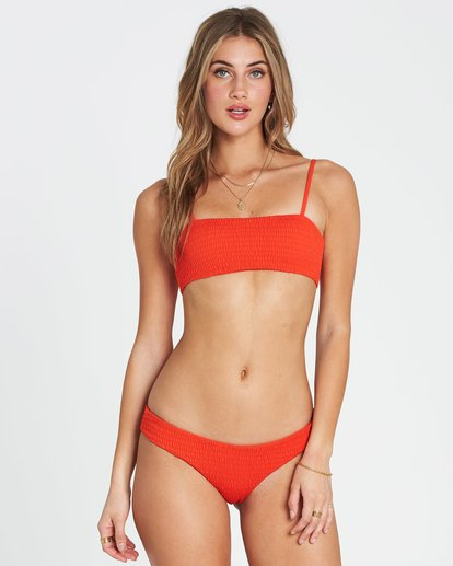 1 Fire Tank Ruched Bandeau Bikini Top Red XT25SBFI Billabong