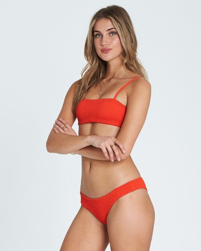 2 Fire Tank Ruched Bandeau Bikini Top Red XT25SBFI Billabong