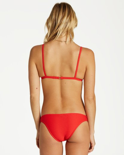 2 Tanlines Fixed Tri Bikini Top Red XT25VBTA Billabong