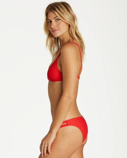 1 Tanlines Fixed Tri Bikini Top Red XT25VBTA Billabong
