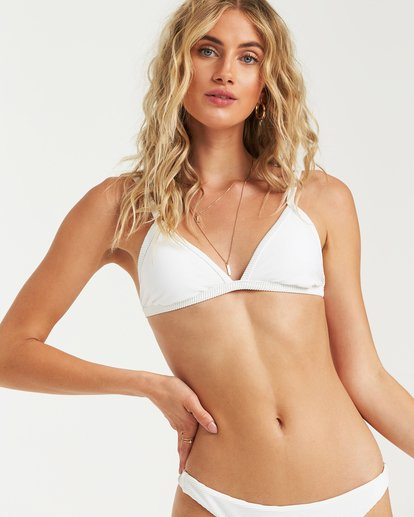 0 Tanlines Fixed Tri Bikini Top White XT25VBTA Billabong