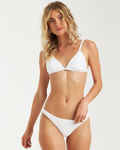 3 Tanlines Fixed Tri Bikini Top White XT25VBTA Billabong
