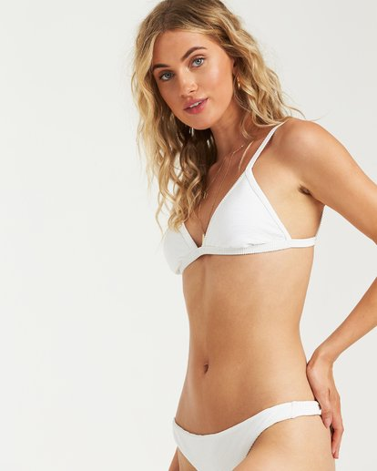 1 Tanlines Fixed Tri Bikini Top White XT25VBTA Billabong