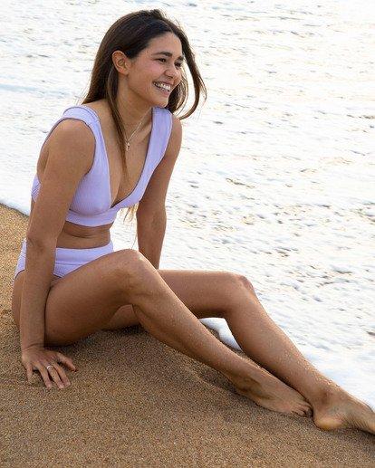0 Sand Dunes Plunge Bikini Top Purple XT283BSA Billabong