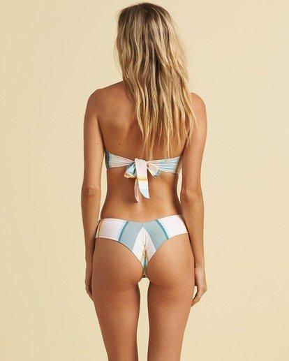 3 Salty Blonde Feelin Salty Bandeau Bikini Top Grey XT333BFE Billabong