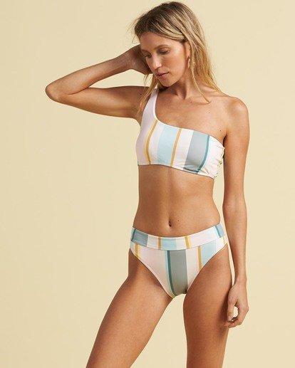 2 Salty Blonde Feelin Salty One Shoulder Bikini Top Grey XT343BFE Billabong