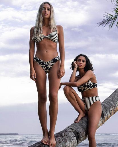 0 Palm Side Knotted Tri Bikini Top Grey XT362BPA Billabong