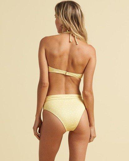 3 Salty Blonde Sundipped Bandeau Bikini Top Pink XT363BSU Billabong
