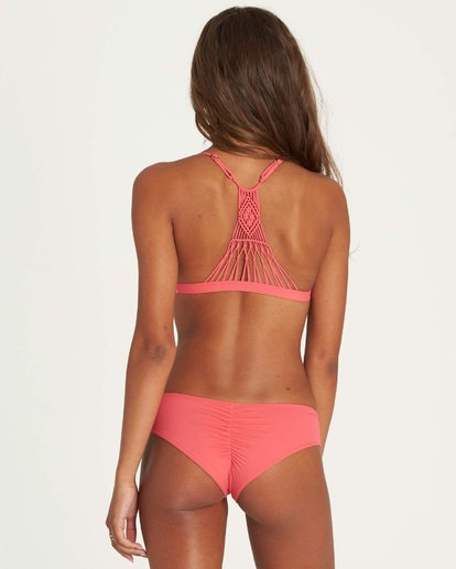 2 It's All About The Triangle Bikini Top Pink XT51JITS Billabong