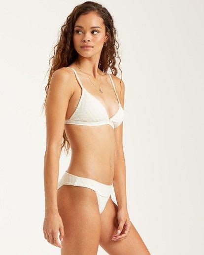 2 Peeky Days Tri Bikini Top White XT522BPE Billabong