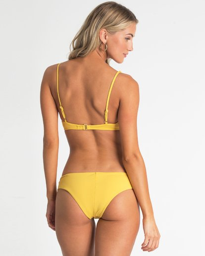 2 High On Sun Bralette Bikini Top Yellow XT54UBHI Billabong