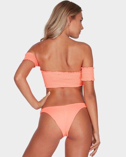 2 Sol Searcher Smocked Off The Shoulder Bikini Top Red XT57SBSO Billabong