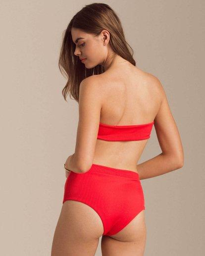 2 Fired Up Bandeau Bikini Top Red XT60PBFI Billabong