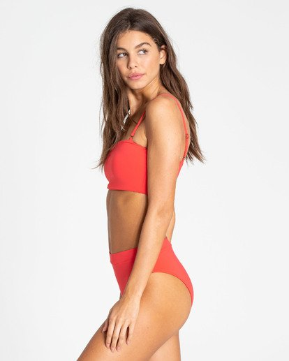 2 Sol Searcher Sunny Tube Bandeau Bikini Top Red XT62TBSO Billabong