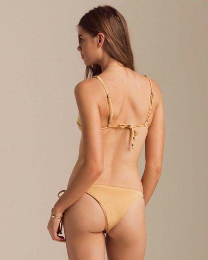 2 Gold Struck Rio Tri Bikini Top Yellow XT66PBGO Billabong