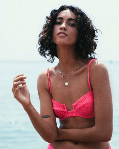 0 Wave Trip Underwire Bikini Top Pink XT691BWA Billabong