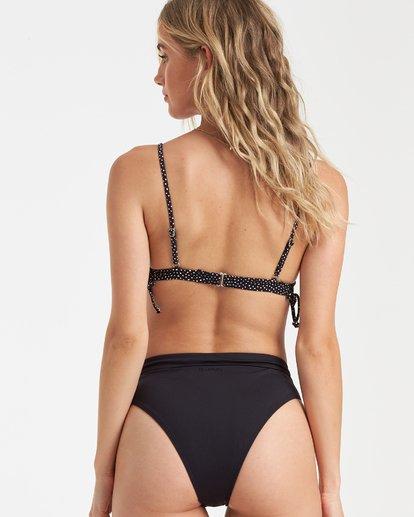 1 Masha Dot Fix Tri Bikini Top Black XT70SBMA Billabong
