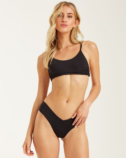 0 Sol Searcher Ruched Mini Crop Bikini Top Black XT762BSO Billabong