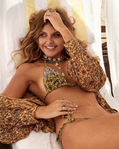 0 Elle Ferguson Castaway Tri Bikini Top Yellow XT80WBCA Billabong