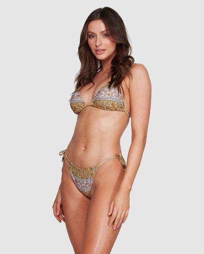 2 Elle Ferguson Castaway Tri Bikini Top Yellow XT80WBCA Billabong
