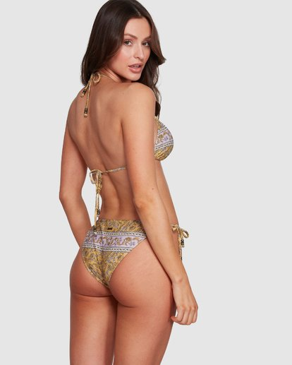 3 Elle Ferguson Castaway Tri Bikini Top Yellow XT80WBCA Billabong