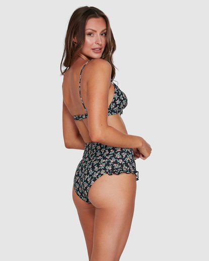 3 Bloom Bralette Bikini Top Black XT813BBL Billabong