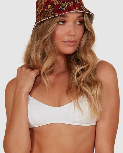 3 Braid Rib Vintage Bralette Bikini Top White XT851BBR Billabong