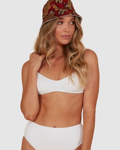 0 Braid Rib Vintage Bralette Bikini Top White XT851BBR Billabong