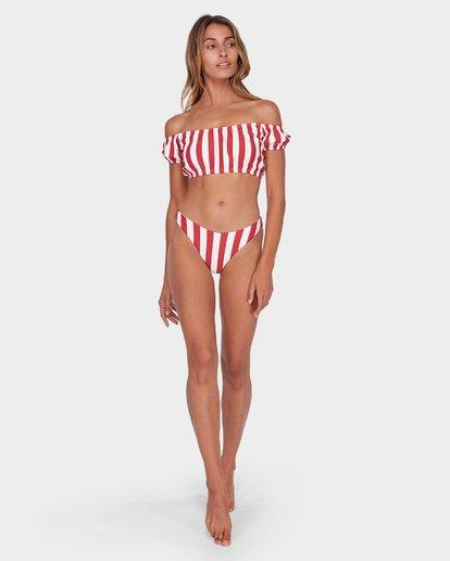 6 Sunset Stripe Cold Shoulder Bikini Top Black XT88SBSU Billabong
