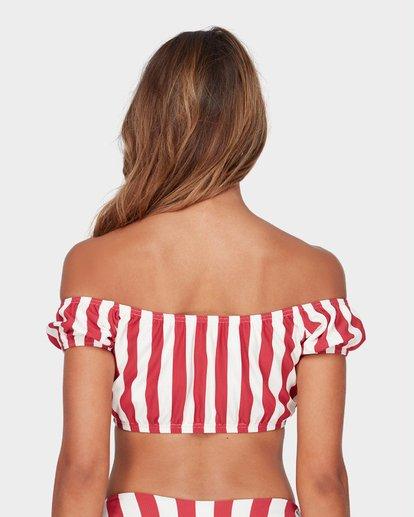 5 Sunset Stripe Cold Shoulder Bikini Top Black XT88SBSU Billabong
