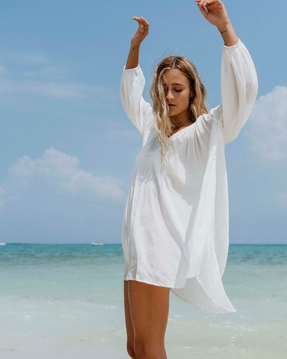 0 Pleasant Tale Swim Cover Up White XV011BPL Billabong