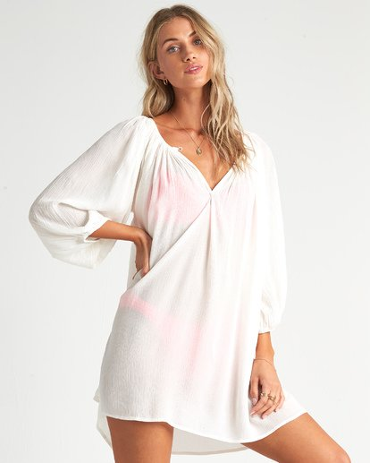3 Pleasant Tale Swim Cover Up White XV011BPL Billabong