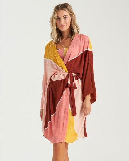 0 Another Sky Kimono Robe Grey XV013BAN Billabong