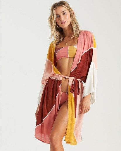 1 Another Sky Kimono Robe Grey XV013BAN Billabong