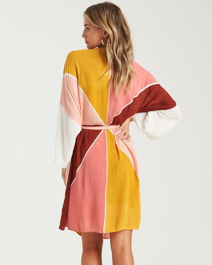 7 Another Sky Kimono Robe Grey XV013BAN Billabong