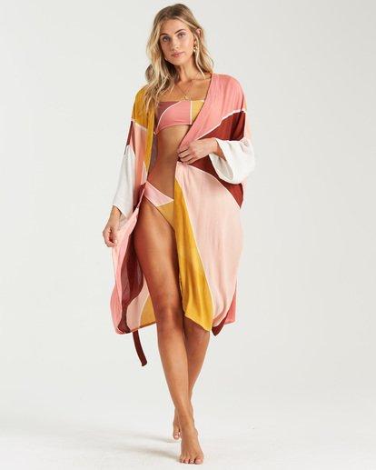 8 Another Sky Kimono Robe Grey XV013BAN Billabong