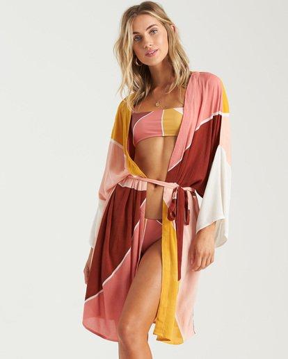 6 Another Sky Kimono Robe Grey XV013BAN Billabong