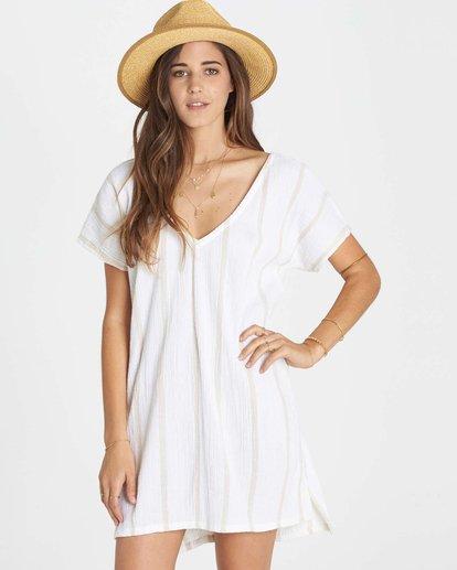 0 Palm Side Cover Up Dress White XV02LPAL Billabong